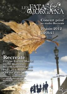 Les Fata Morgana - Recreate - Montreuil - 29 juin 2012