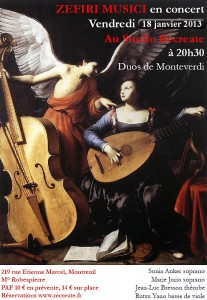 Zefiri musici - Recreate - Montreuil -18 janvier 2013